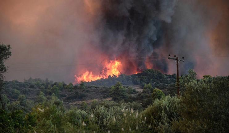 Пожар на гръцкия остров Евбея