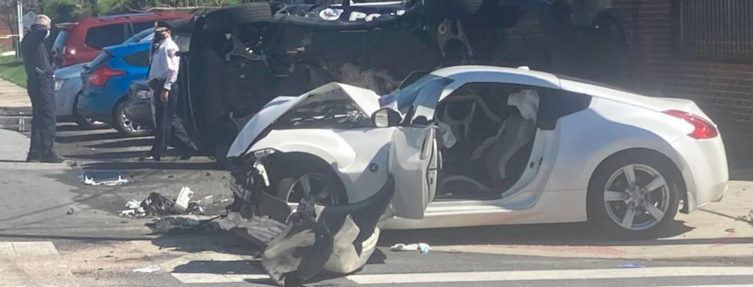 Полицейска кола е участвало в катастрофа