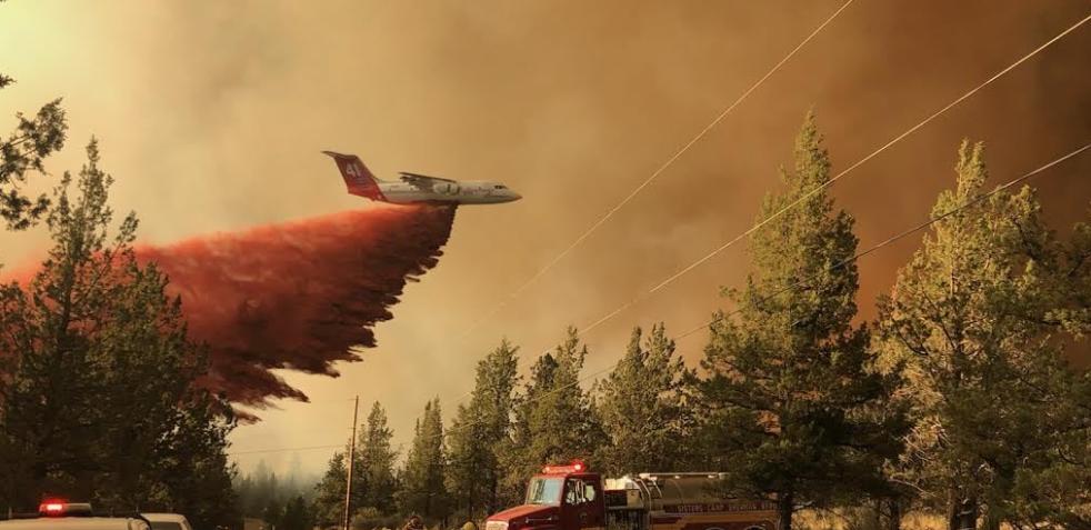 Огънят в Орегон се разпространява