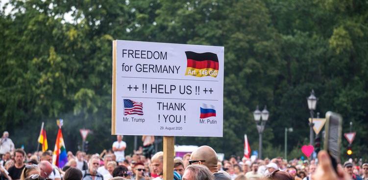 Стотици протестиращи в Берлин