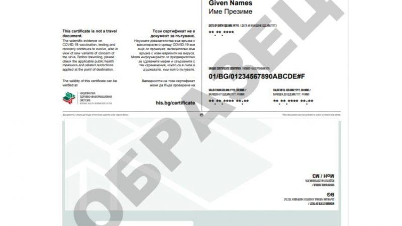 европейския цифров COVID сертификат