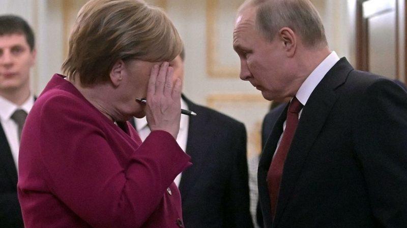 Германия електричество меркел и путин
